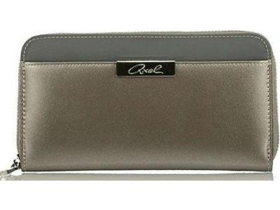 Axel Cerise wallet solid color 1101-1140 metallic stone