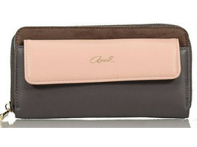 Axel Mary zip wallet with flap pocket 1101-1146 grey