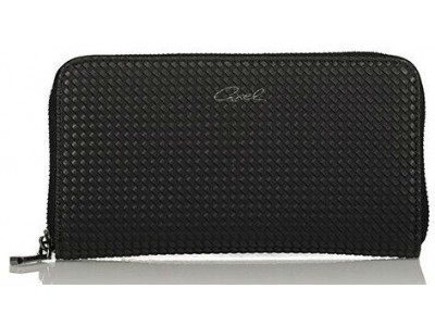 Axel Corine solid wallet with knit texture 1101-1148 black