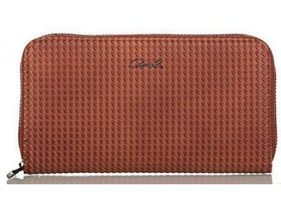 Axel Corine solid wallet with knit texture 1101-1148 camel