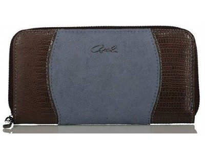 Axel Marina wallet with zipper closing 1101-1154 dusty blue