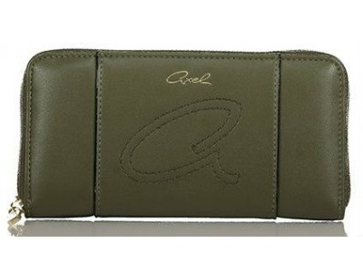 Axel Jil wallet solid color 1101-1158 green
