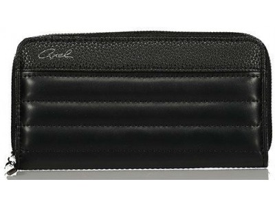 Axel Poppy wallet with horizontal stitching 1101-1165 black