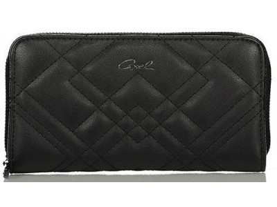 Axel Caliste wallet with stitching pattern 1101-1170 black