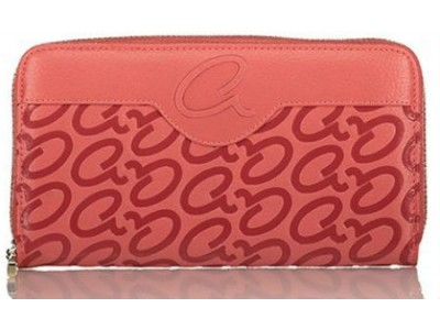 Axel Frida wallet embossed logos 1101-1186 sunset pink