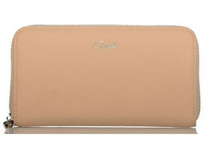 Axel Janetta solid color zip wallet 1101-1192 beige