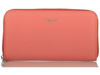 Axel Janetta solid color zip wallet 1101-1192 sunset pink