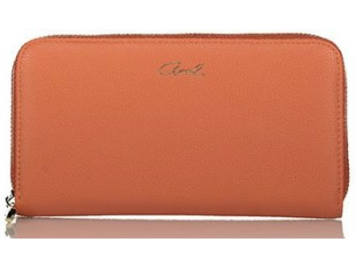 Axel Janetta solid color zip wallet 1101-1192 terracota