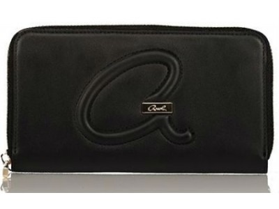 Axel Christa wallet solid color with zipper 1101-1203 black