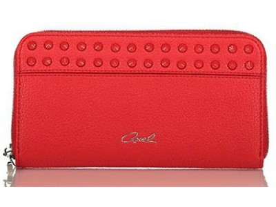 Axel Kikka wallet with studs 1101-1211 red