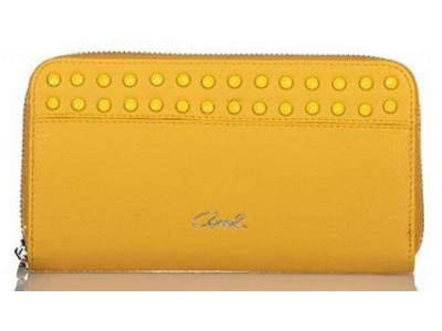 Axel Kikka wallet with studs 1101-1211 yellow