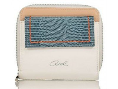Axel Kristen zip wallet with flap 1101-1213 blue