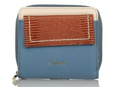 Axel Kristen zip wallet with flap 1101-1214 blue