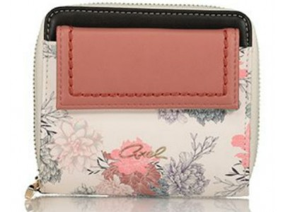 Axel Garden flowers zip wallet with flap 1101-1216 white