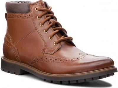 Clarks Curington Rise 26136854 tan leather