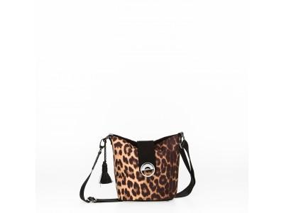 Christina Malle Leopard mini hobo