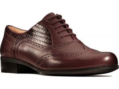 Clarks Hamble Oak 26146301 burgundy combi