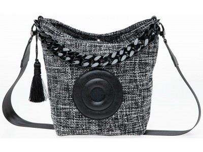 Christina Malle Tweed Hobo black/white