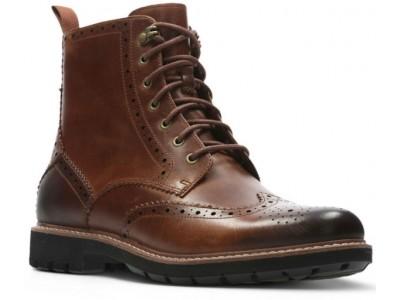 Clarks Batcombe Lord 26127190 dark tan leather
