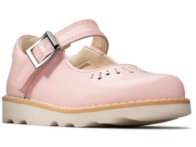 Clarks Crown Jump T 26144010 pink patend