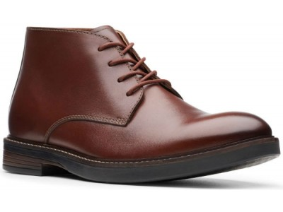 Clarks Paulson Mid 26144781 mahogany leather