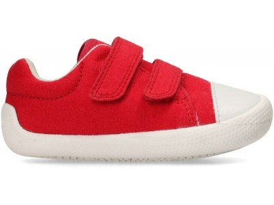 Clarks Tiny Pebble 26133623 red canvas