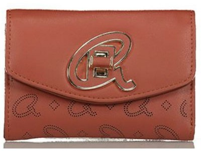 Axel Alder flap mini wallet with A logo closing 1101-1242 red wood