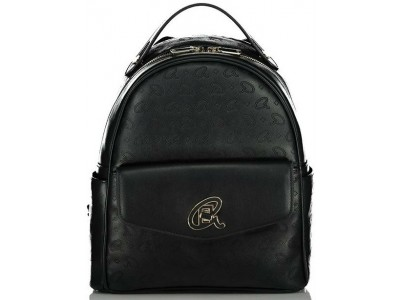 Axel Alder zip backpack front flap pocket 1023-0234 003 black