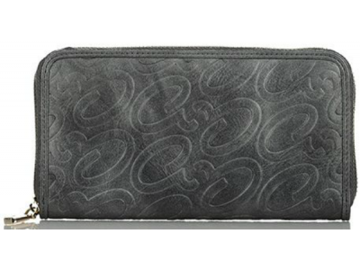 Axel Alena embossed logo zip wallet 1101-1257 130 dark grey