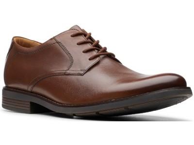 Clarks Becken Lace 26145296 dark tan leather
