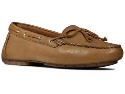 Clarks C Mocc Boat 26149272 tan leather