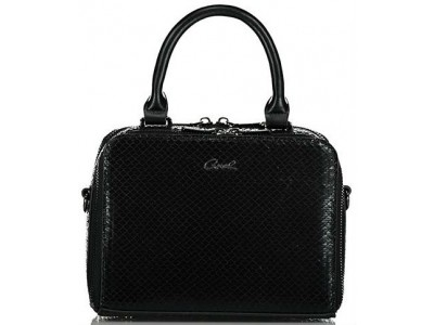 Axel Capella handbag double zip opening 1020-0405 003 black