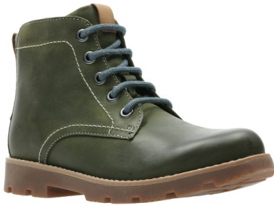 Clarks Comet Rock 26138440 olive leather