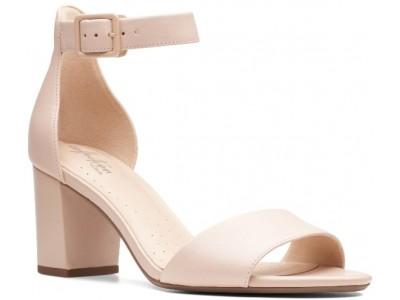 Clarks Deva Mae blush leather 26139939
