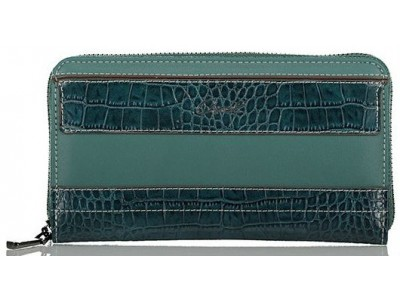 Axel Feronia zip around wallet croc detail 1101-1249 010 petrol