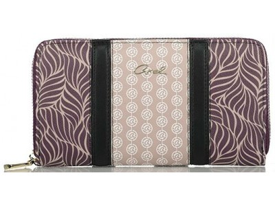 Axel Fluer zip wallet various prints 1101-1297 031 purple
