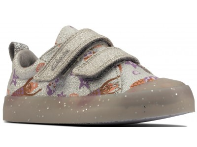 Clarks Foxing print T 26158359 silver