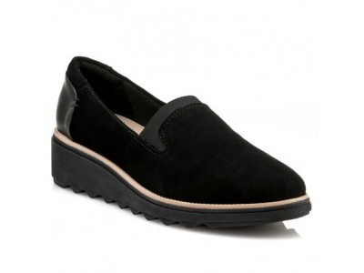 Clarks sharon dolly black suede