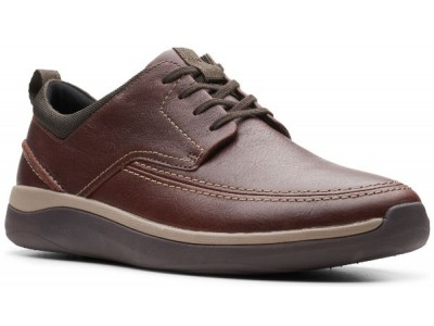 Clarks Garratt Street 26148762 mahogany leather