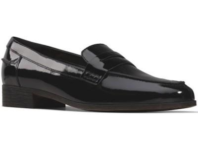 Clarks Hamble Loafer 26147536 black patent