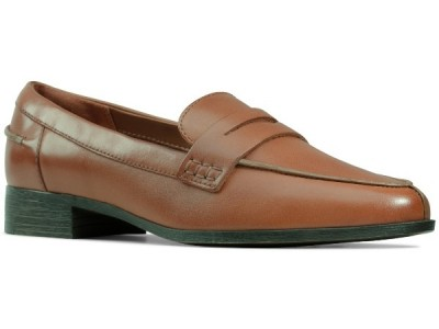 Clarks Hamble Loafer 26147740 tan leather