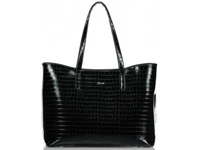 Axel Ivy croc shopper bag 1010-2447 black