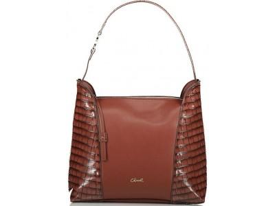 Axel Ivy croc shoulder bag 1010-2448 brown