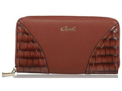 Axel Ivy zip wallet croc detail 1101-1231 016 brown