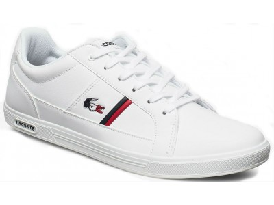 Lacoste Europa tri1 sma wht/nvy/red