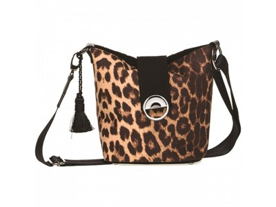 Christina Malle Leopard mini hobo