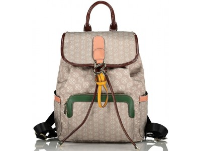 Axel Maple flap backpack with pockets 1023-0251 001 beige