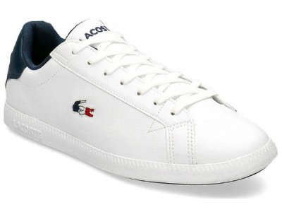 Lacoste Graduate tri1 sma wht/nvy/red