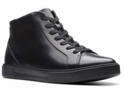 Clarks Un Costa Mid 26144307 black warmlined leather