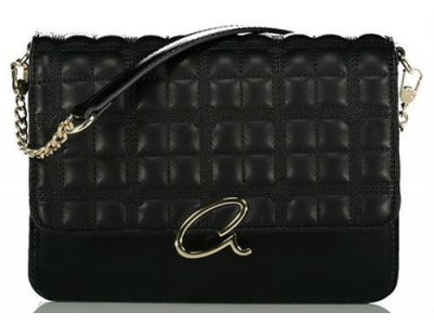 Axel Selina flap bag quilted with chain 1020-0429 003 black